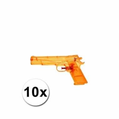 Groothandel 10 voordelige waterpistolen oranje speelgoed