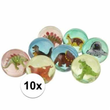 Groothandel 10x stuiterbal met dinosaurus speelgoed