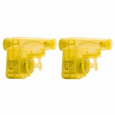 Groothandel 10x stuks goedkope kleine gele waterpistooltjes speelgoed kopen
