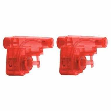 Groothandel 10x stuks goedkope kleine rode waterpistolen speelgoed kopen