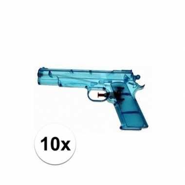 Groothandel 10x voordelige waterpistolen blauw speelgoed kopen