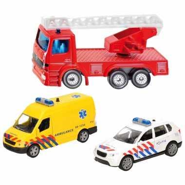 Groothandel 112 diensten wagens uitgebreide speelgoed set 3-delig die-cast kopen