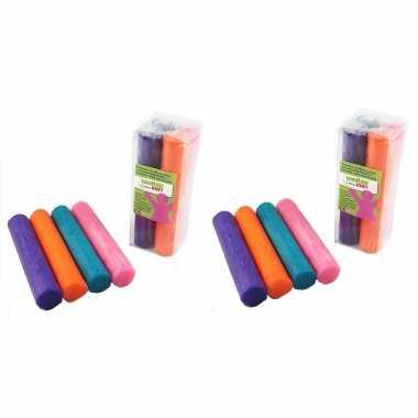 Groothandel 12x gekleurde fantasie klei rollen 100 gram creatief speelgoed voor kinderen kopen