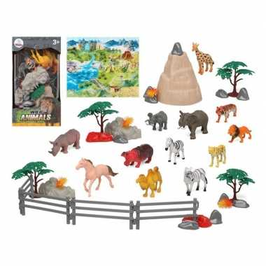 Groothandel 12x plastic safaridieren speelgoed figuren voor kinderen kopen