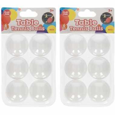 Groothandel 12x stuks speelgoed ping pong balletjes 40 mm/4 cm kopen