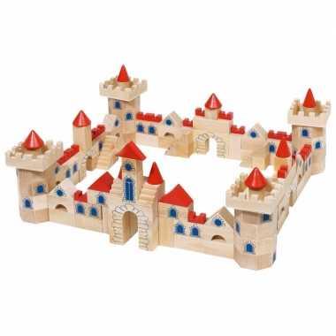 Groothandel 145-delige houten bouw blokken kasteel speelgoed kopen