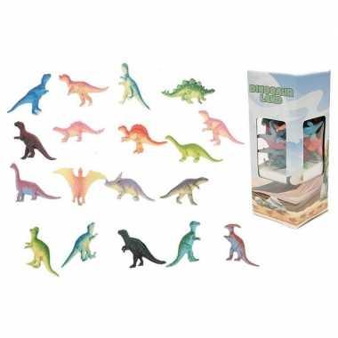 Groothandel 18x plastic speelgoed dinosaurussen 6 cm kopen