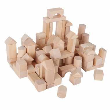 Groothandel 200x stuks houten speelgoed blokken kopen