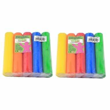 Groothandel 20x gekleurde fantasie klei rollen 100 gram creatief speelgoed voor kinderen kopen