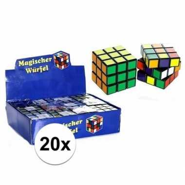 Groothandel 20x uitdeel speelgoed puzzel kubussen 7 cm kopen