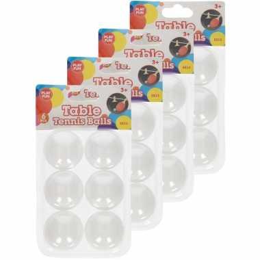 Groothandel 24x stuks speelgoed ping pong balletjes 40 mm/4 cm kopen