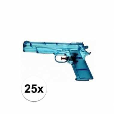Groothandel 25x voordelige waterpistolen blauw speelgoed kopen