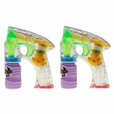 Groothandel 2x bellenblaas led speelgoed pistool kopen