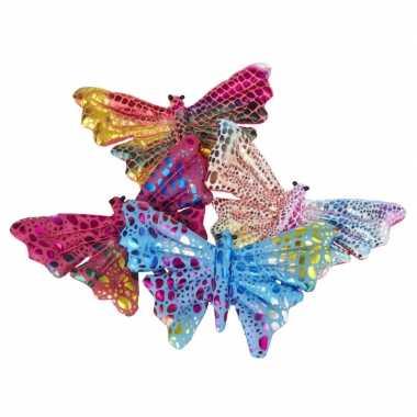 Groothandel 2x gekleurde speelgoed vlindertjes 12 cm kopen