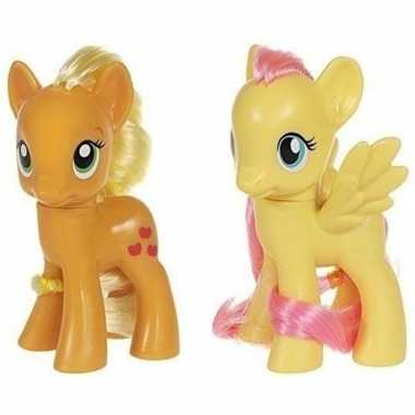 Groothandel 2x speelgoed my little pony plastic figuren applejack/flu