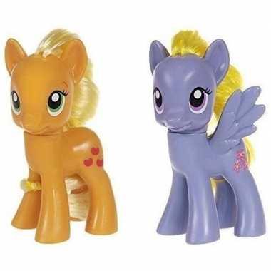 Groothandel 2x speelgoed my little pony plastic figuren applejack/lil