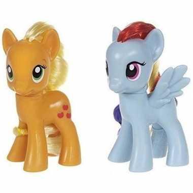 Groothandel 2x speelgoed my little pony plastic figuren applejack/rai