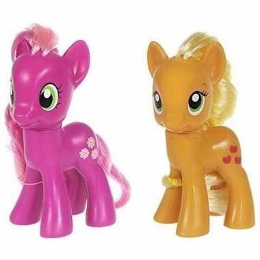Groothandel 2x speelgoed my little pony plastic figuren cheerilee/app