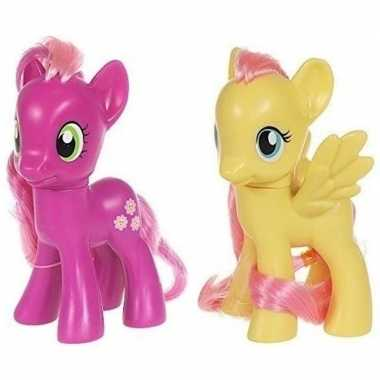 Groothandel 2x speelgoed my little pony plastic figuren cheerilee/flu
