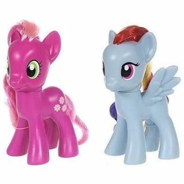 Groothandel 2x speelgoed my little pony plastic figuren cheerilee/rai