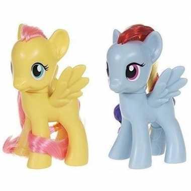 Groothandel 2x speelgoed my little pony plastic figuren fluttershy/ra