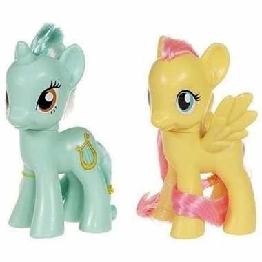 Groothandel 2x speelgoed my little pony plastic figuren heartstrings/