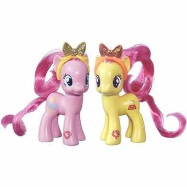 Groothandel 2x speelgoed my little pony plastic figuren pursey pink/p
