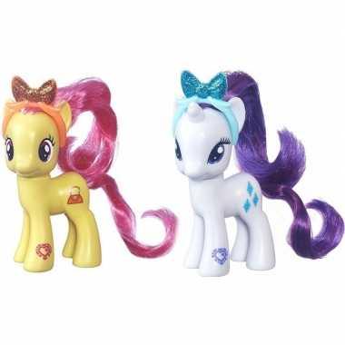 Groothandel 2x speelgoed my little pony plastic figuren pursey pink/r