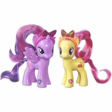 Groothandel 2x speelgoed my little pony plastic figuren pursey pink/t