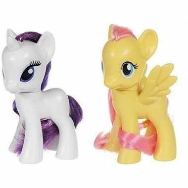 Groothandel 2x speelgoed my little pony plastic figuren rarity/flutte