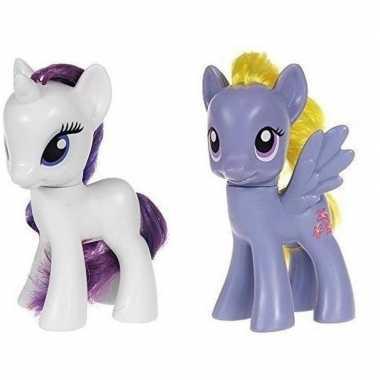 Groothandel 2x speelgoed my little pony plastic figuren rarity/lily b