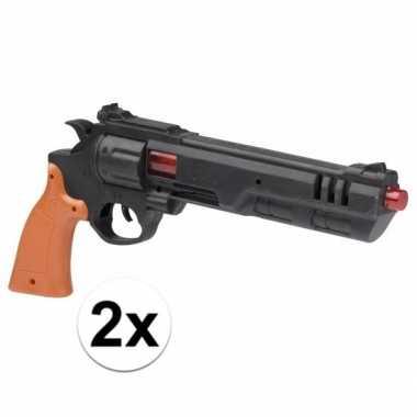 Groothandel 2x stuks speelgoed politie pistolen van 36 cm kopen
