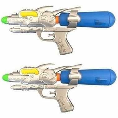 Groothandel 2x watergeweren blauw 31 cm speelgoed kopen