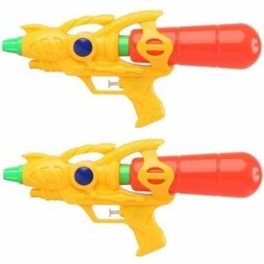 Groothandel 2x watergeweren geel 33 cm speelgoed kopen