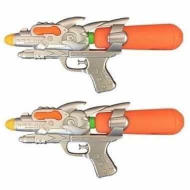 Groothandel 2x watergeweren oranje 31 cm speelgoed kopen