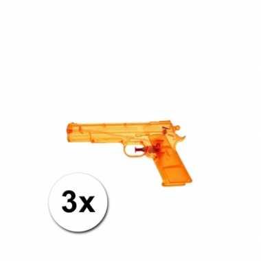 Groothandel 3 voordelige waterpistolen oranje speelgoed