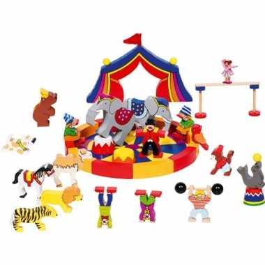 Groothandel 35-delige houten bouw blokken circus speelgoed kopen