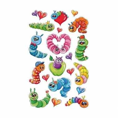 Groothandel 3d stickers kleurrijke rupsen speelgoed kopen
