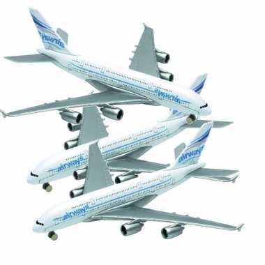 Groothandel 3x airbus a380 speelgoed vliegtuigen kopen