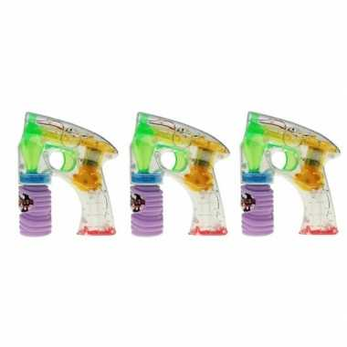 Groothandel 3x bellenblaas led speelgoed pistool kopen