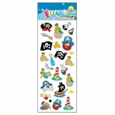 Groothandel 3x piraten stickervel met 24 stickers speelgoed kopen