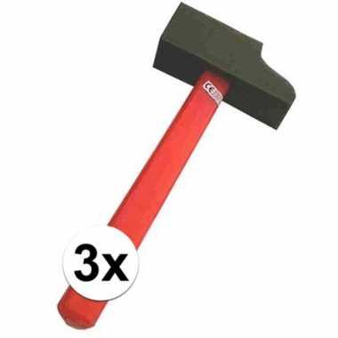 Groothandel 3x speelgoed neppe hamers van foam kopen