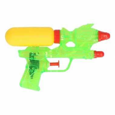 Groothandel 3x stuks mini waterpistolen groen 18 cm speelgoed kopen
