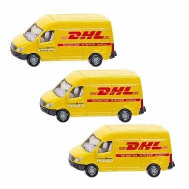 Groothandel 3x stuks siku dhl bezorg busje modelauto 8 cm speelgoed kopen