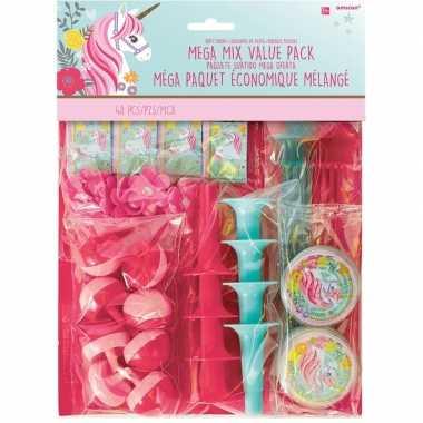Groothandel 48x kinderfeestje uitdeelcadeautjes eenhoorn speelgoed ko
