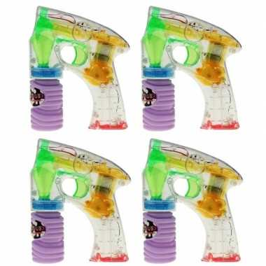 Groothandel 4x bellenblaas led speelgoed pistool kopen