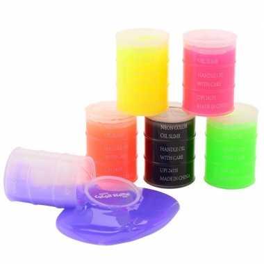 Groothandel 4x potje speelslijm paars 150 ml inhoud speelgoed kopen