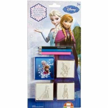 Groothandel 5 delige stempeltjes set frozen speelgoed kopen