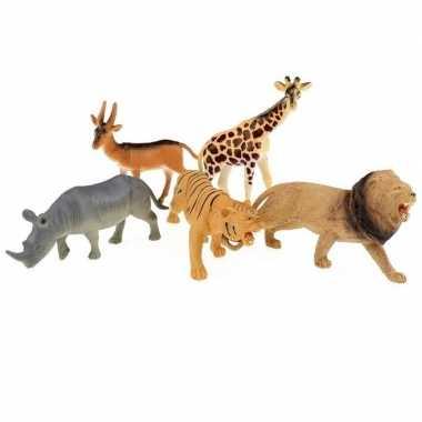 Groothandel 5x plastic safaridieren figuren speelgoed kopen