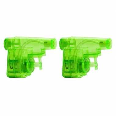 Groothandel 5x stuks goedkope kleine groene waterpistooltjes speelgoed kopen